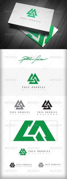 Interlocking Triangles Logo - Pine Tree Lodge Logo
