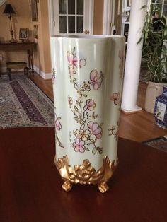 Antique Limoges France Footed Four Panel Porcelain Vase LARGE | eBay