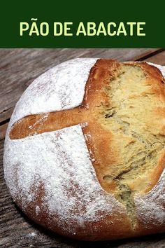 Pão de abacate - uma receita de pão deliciosa, macia e saudável. Faça esse pão de abacate maravilhoso na sua casa. Prepare mais pães em casa. Chef Recipes, Vegan Recipes, Cooking Recipes, Vegan Junk Food, Vegan Sushi, Portuguese Desserts, Vegan Smoothies, Our Daily Bread, Vegan Restaurants