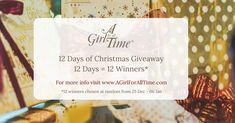 I've just entered to win one of the 12 Days of Christmas prizes from A Girl for All Time®.  They've got loads of 5* reviews and it would make a great gift, too. You can enter as well -  just follow the link : )