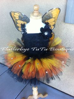Oh So Sweet Monarch Butterfly Costume TuTu by flutterbyetutu