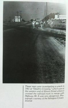 Dead Man's crossing on the Bankhead Hwy. (Hwy 80) and Fielder Road where the railroad,  Abram St., Fielder Rd. and Division all come together in front of the The Fielder House.