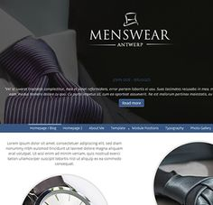 Menswear Antwerp, a menswear, formal-wear or fashion style Joomla template with various fixed background positions, stylish layout and responsive design. This bootstrap Joomla template is not only the Joomla Templates, Antwerp, Background Images, Extensions, Menswear, Fashion Outfits, Formal, Create, Stylish