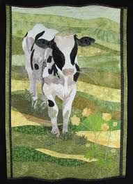 Cow quilt ... made by Holly Knott. Wonderful!