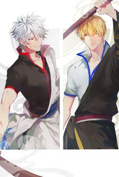 Gintoki and Kintoki Me Me Me Anime, Anime Guys, Manga Art, Anime Art, Gin, Silver Samurai, Okikagu, Anime Crossover, Free Anime