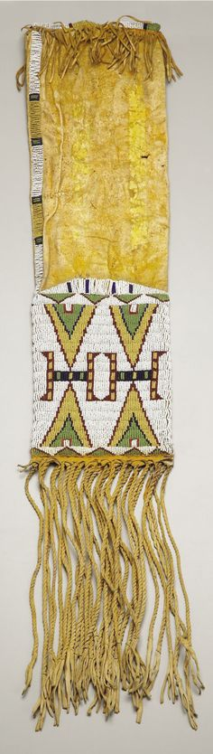 Arapaho 1880 - I pinned this because it has a triangle pattern on it. I am very curious bout what this design represents.