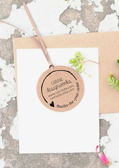 Custom Logo Stamp Business Card Stamp Thank You by ThePrintMint