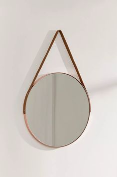 Carson Leather Strap Mirror | Urban Outfitters