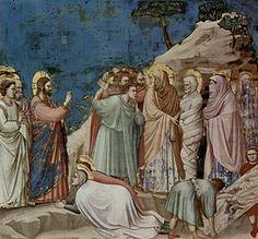 Resurrección de Lázaro. Giotto di Bondone. Nuevo Testamento.
