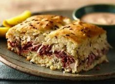 BAKED REUBEN SANDWICH - wow, this sounds so good! maybe make it with leftovers from St. Patrick's Day?