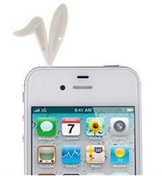 Imagem de Plug Pingente Coelhinho para Proteção Contra Poeira 3,5mm - Branco