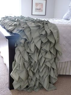QueenSize Ruffled Throw by metzinteriors on Etsy