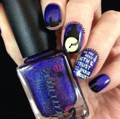Tips and Topcoat: Colors by Llarowe House Of Blues | Peter Pan Inspired Nail Art