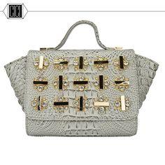 58.48$  Watch here - http://ali4v2.worldwells.pw/go.php?t=32639543983 - 2016 new  fashion women Diamonds handbag crocodile grain female bag single shoulder bag handbag 58.48$