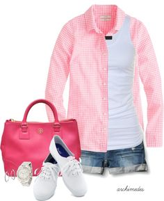 """Pink for Spring"" by archimedes16 on Polyvore"