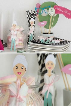 """Kindergeburtstag Gastgeschenk - Für die Beauty Girls Mottoparty ist dieses kleine Geschenk der """"Wellnesslady"""" perfekt und der Hingucker für die Geburtstagsdeko: http://www.limmaland.com/shop/kindergeburtstag/beauty-party/"""
