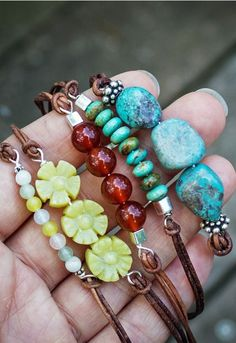 DIY Beaded Leather Bracelet.                                                                                                                                                                                 More