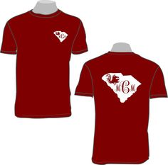 South Carolina state outline with gamecock by tillot3sonsgraphics, $16.50