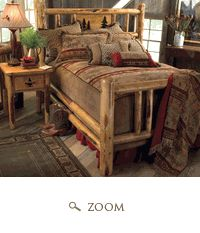 Rocky Mountain Log Bedroom Collection ~ Want This Look For Our Bedroom w/King Sized Bed