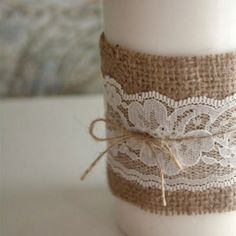 Burlap and lace - maybe for outdoor video premier party (fancy and casual at same time???)