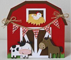 Farm Birthday Invitations / Red Barn invitations / Cow / Horse / Set of 12 Bauernhof-Geburtstags-Ein Birthday Tags, Farm Birthday, Animal Birthday, Happy Birthday Banners, 2nd Birthday Parties, Birthday Invitations, Invitations Kids, Invites, Party Animals