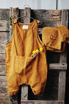Beautiful Handmade Linen Baby Romper | Lapetitealice on Etsy