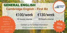It's a new #season. Let's do something new! Come to #Dublin, LEARN #English with us!  http://www.castleforbescollege.com