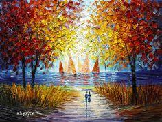 Morning Sail (2014) Slava Ilyayev http://www.parkwestgallery.com/artwork-detail?ArtID=379582 #art #slavailyayev #ilyayev #parkwestgallery #sailing #bythewater