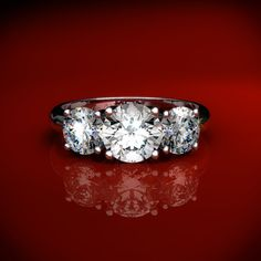What engagement ring suits your personality? Three Stone Rings for the Sentimental or Spiritual Woman…