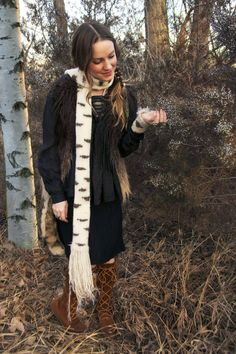 birchheart scarf- tiny owl knits