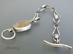 Silver Chain Bracelet Royston Ribbon Turquoise by LjBjewelry