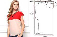 Este jovial diseño casual lo podrás confeccionar en solo media hora, siguiendo estos sencillos pasos: Escoge la tela que prefieras, con 75 cms de largo bastará. Traza las medidas que te presentamos…