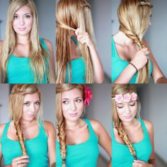 Fishtail braid hairstyle of 2014