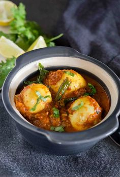 Egg Masala Curry, A perfect weeknight dinner. Boiled Eggs are simmered in rich and creamy punjabi style masala gravy makes this egg curry a sheer delight. Super flavourful 200 calories per serving and on the table in flat 20 minutes. This Masala egg curry is keeper of a recipe for the busy weekdays ...