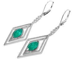 Unique emerald earrings