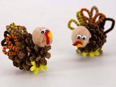 Pinecone Turkey Craft.