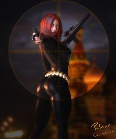 Black Widow by PGandara on DeviantArt Marvel Fanart, Hq Marvel, Marvel Comics Art, Marvel Heroes, Marvel Women, Marvel Girls, Comics Girls, Comic Art Girls, Black Widow Avengers