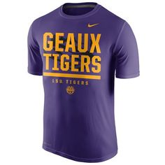 LSU Tigers Nike Local Verbiage Dri-FIT Legend T-Shirt - Purple - $29.99