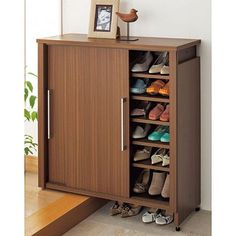 House design Latest shoe rack designs Tips On How To Care For Your Deck Think your deck is imperviou Shoe Storage Furniture, Hallway Shoe Storage, Shoe Storage Shelf, Home Decor Furniture, Tall Cabinet Storage, Shoe Rack Living Room, Shoe Cabinet Design, Home Entrance Decor, Computer Desks For Home