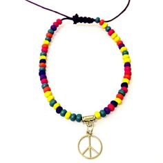 Purple Peace anklet-£2 #prettytwisted #jewellery #anklet http://prettytwistedonline.co.uk/product/purple-multi-peace-anklet/