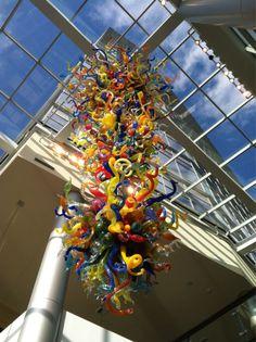 Seattle: Bellevue art glass installation