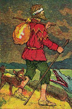Fool from the Knapp-Hall Tarot