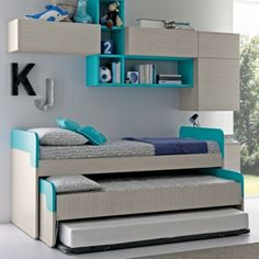 "Fantastic ""modern bunk beds for girls room"" info is offered on our internet site. Take a look and you wont be sorry you did. Bunk Beds Small Room, Modern Bunk Beds, Cool Bunk Beds, Kids Bunk Beds, Small Rooms, Triple Bed, Triple Bunk Beds, Triple Trundle Bed, Childrens Bedroom Furniture"