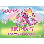 Personalized 1st Birthday Butterfly Yard Sign