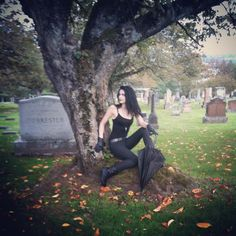 """227 Likes, 2 Comments - Katy DeCobray (@katydecobray) on Instagram: """"Blurry #bts pic of my photo shoot with @micktography yesterday. This cemetery is one of my…"""""""