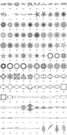 Calligraphia design elements free clipart