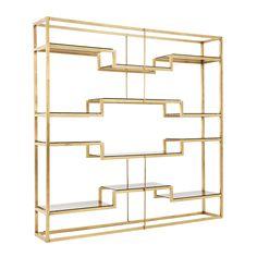 1stdibs | Freestanding Italian Room Divider / Shelving System Attributed To Romeo Rega