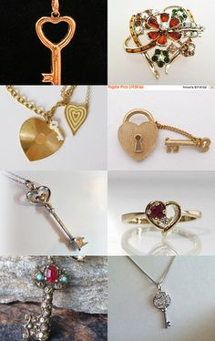 Key to my Heart - Vintage Jewelry from Vjt by moonbeam0923 on Etsy--Pinned with TreasuryPin.com