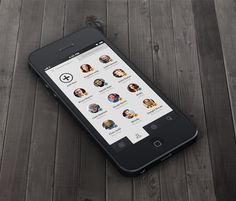 Friends List for iOS App by Zane David via Dribbble