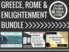 ANCIENT GREECE, ROME AND ENLIGHTENMENT BUNDLE  World History**What makes these different from the units is that I can include a lot more video and other resources since I am limited to 200 mb of space.*** ***PLEASE READ***: This item is only available to download using google drive.
